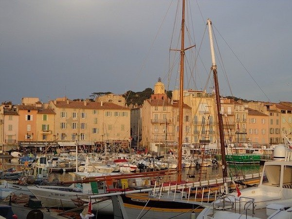 St Tropez and boats in the port