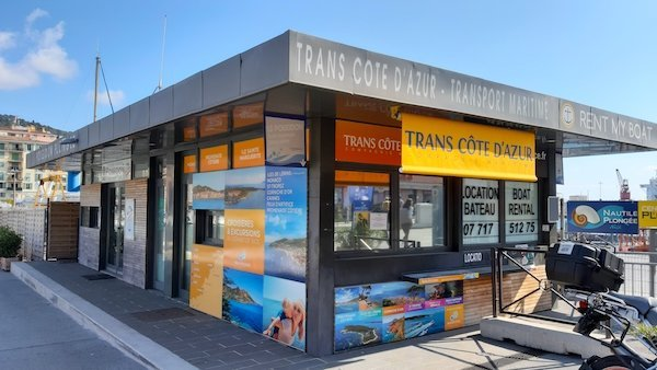 Trans Cote d'Azur ticket kiosk by Nice's port