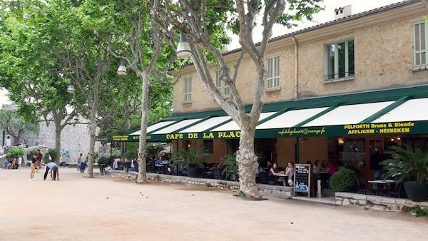 things to do in St Paul de Vence - enjoy a beverage at Cafe de la Place