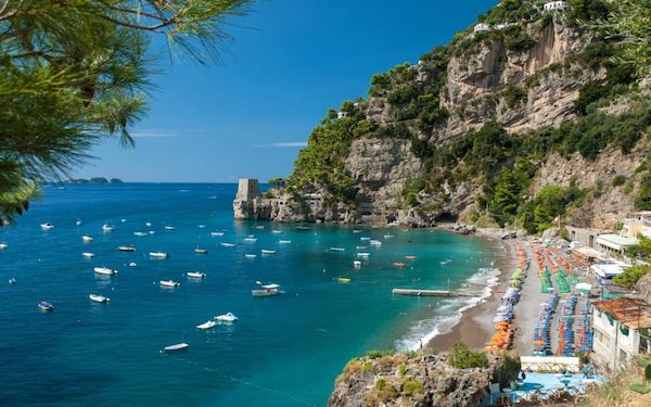 Mediterranean Beaches off the Beaten Path near Positano Italy