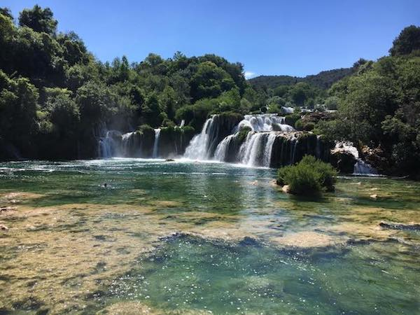 Krka falls in Split Croatia