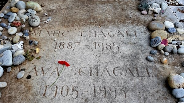 Marc Chagall grave in St Paul de vence