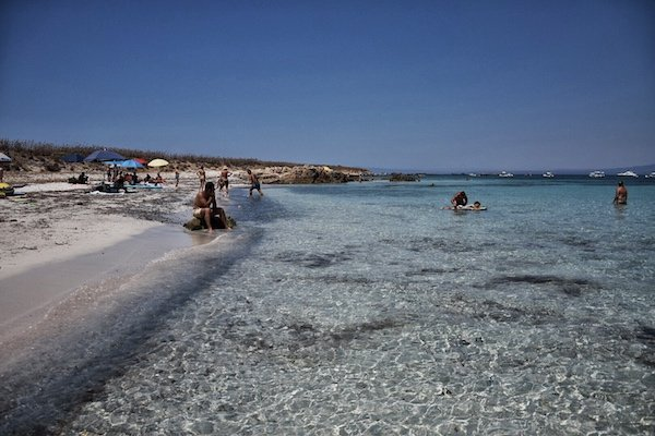 Sandy beach in Sardinia
