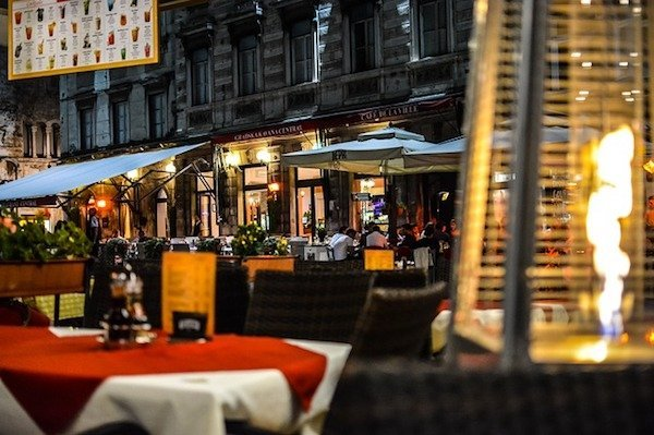cafe at night in Split Croatia