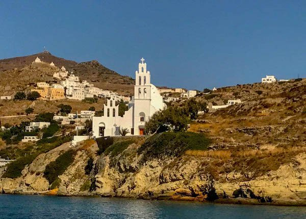Church and Valmas Beach Ios Greece