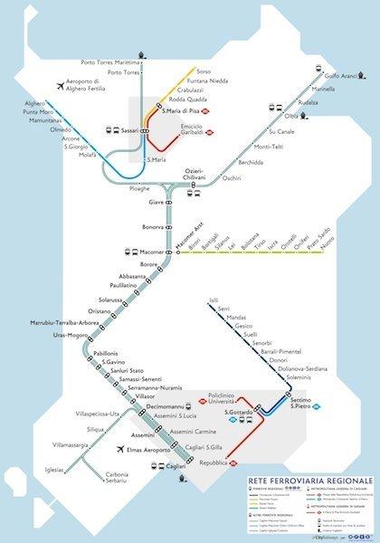 Sardinia Train network