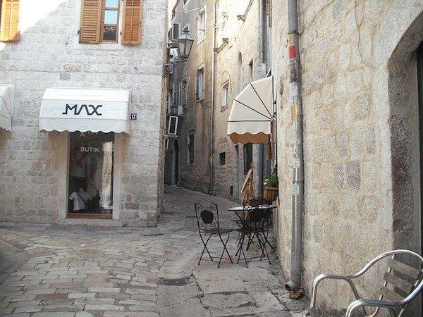 quiet shopping street