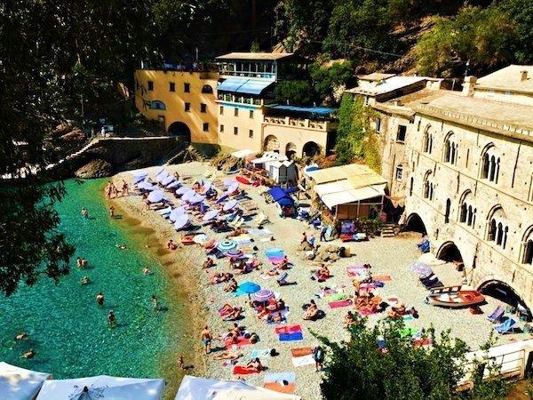 Beach at San Fruttuoso Italy