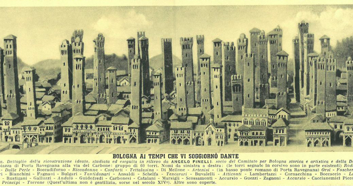 Bologna's Towers during the time of Dante