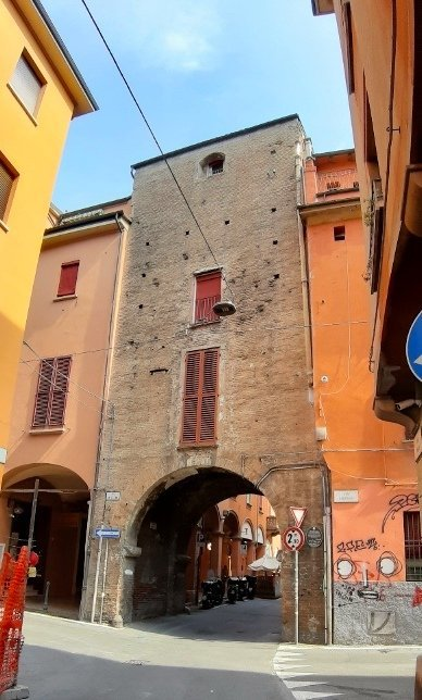 Jewish Ghetto entrance in Bologna