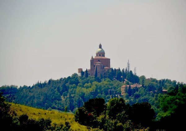 Sanctuary of San Luca in Bologna on the hill