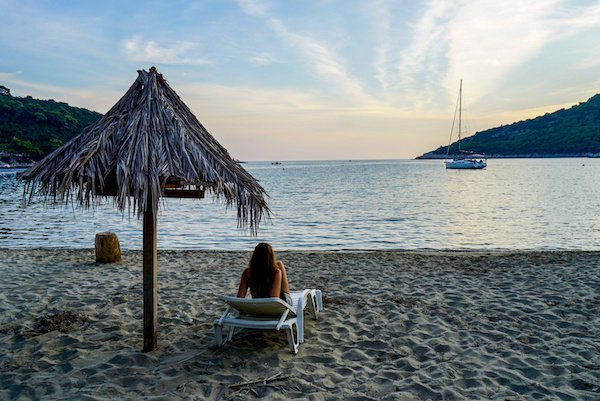 Saplunara Beach on Mljet island Croatia