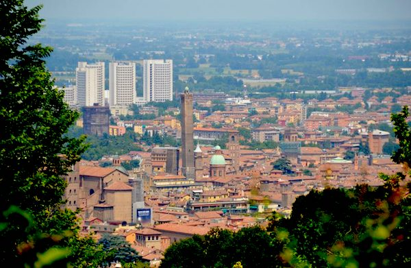 Views from the hills over Bologna