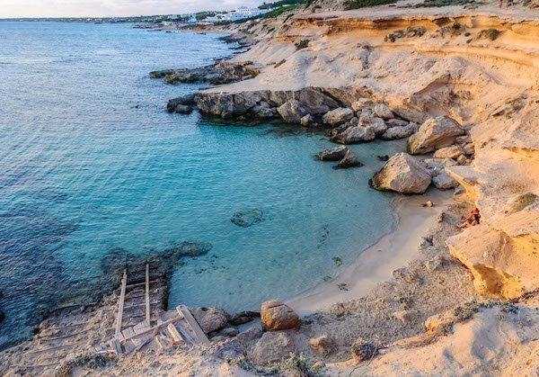 Best Mediterranean beaches off the beaten path in Es Calo Mort Formentera