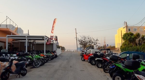 Bike rentals on Milos Greece