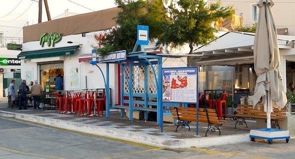 Bus stop in Adamas Milos