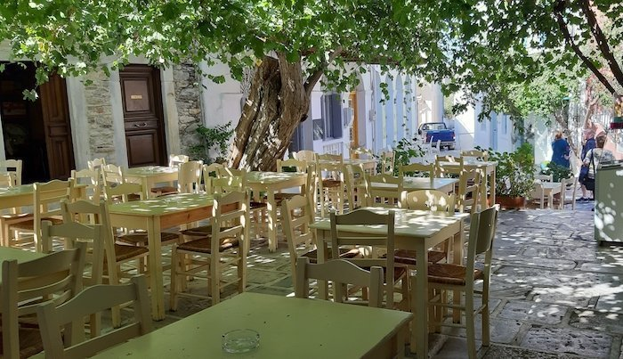 Courtyard in Halki