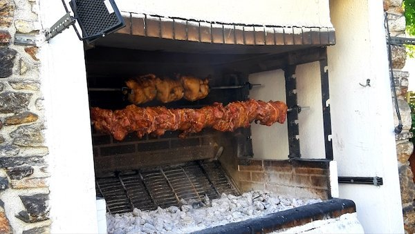 Grilled meats in Halki Naxos Greece