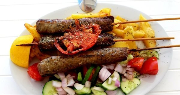 Naxos food of Kebobs