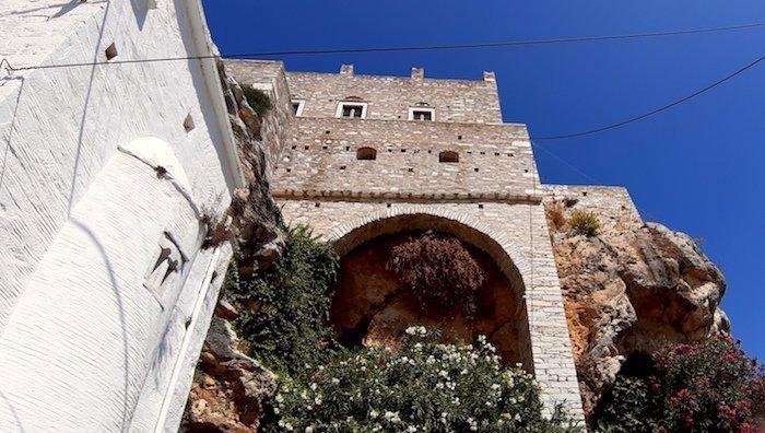 Marble village of Apiranthos Naxos Greece