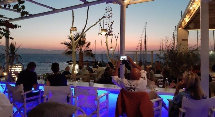 Rooftop bar in Chora Naxos