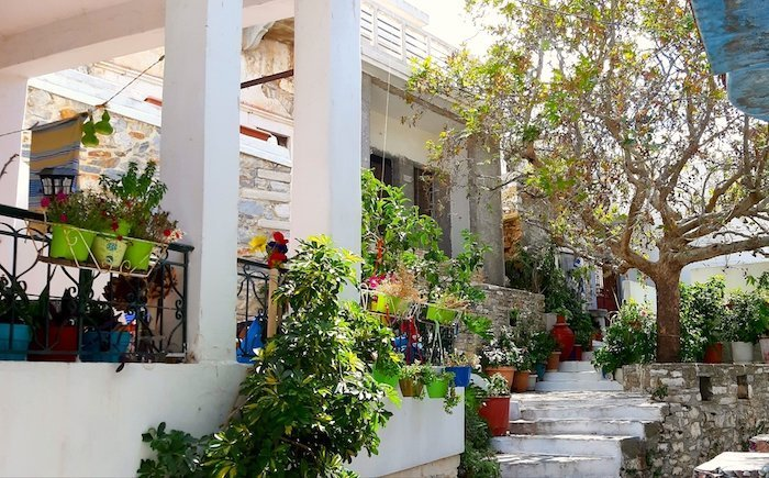 Streets of Filoti Naxos Greece