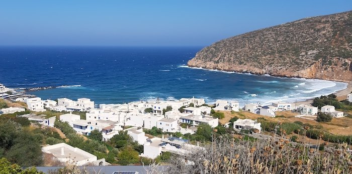 Apollonas Bay village