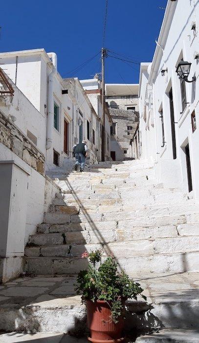 Marble stairs of Apiranthos Naxos