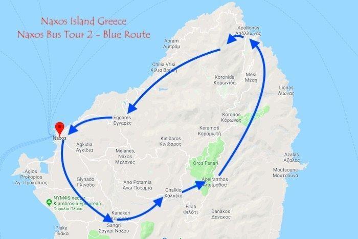 Naxos Bus Tour Route 2